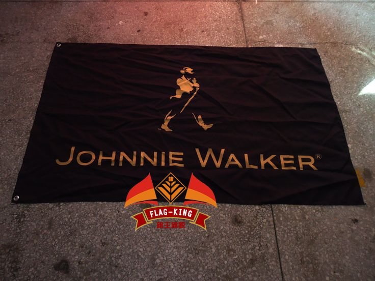 johnnie walker LOGO brand flag,Red Bull everage,drink,libation,fix, belly wash,free shipping,100% flag king polyester banner