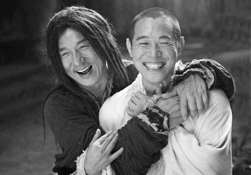 Jet Li & Jackie Chan, sooo cool :))))) Two of my Favorite Kung Fu actors, Miss their movies, wish they could keeping making awesome fighting movies but they're about to retire I guess :(