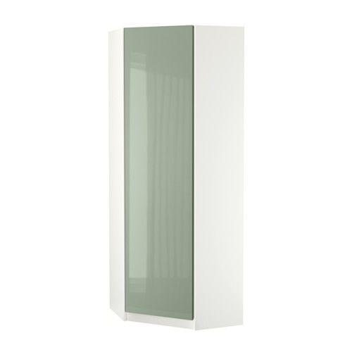 IKEA - PAX, Hoekgarderobekast, Fardal hoogglans lichtgroen, 73/73x201 cm, , Gratis 10 jaar garantie. Raadpleeg onze folder voor de garantievoorwaarden.De deur kan links of rechts draaiend gemonteerd worden.