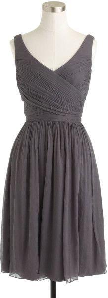 Bridesmaid dress? J.crew Gray Heidi Dress in Silk Chiffon