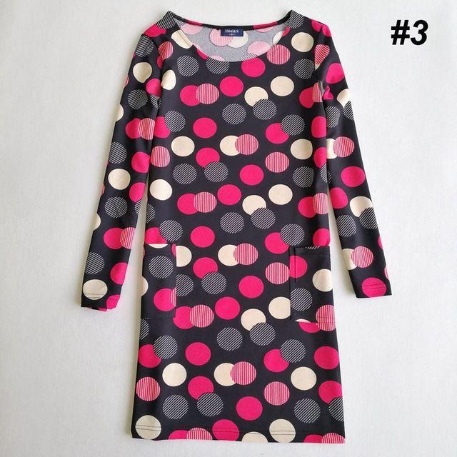 Idealark plus size roupas femininas moda primavera cópia da flor dress senhoras vestidos de manga comprida casual outono vestidos wc0592 em Vestidos de Das mulheres Roupas & Acessórios no AliExpress.com | Alibaba Group