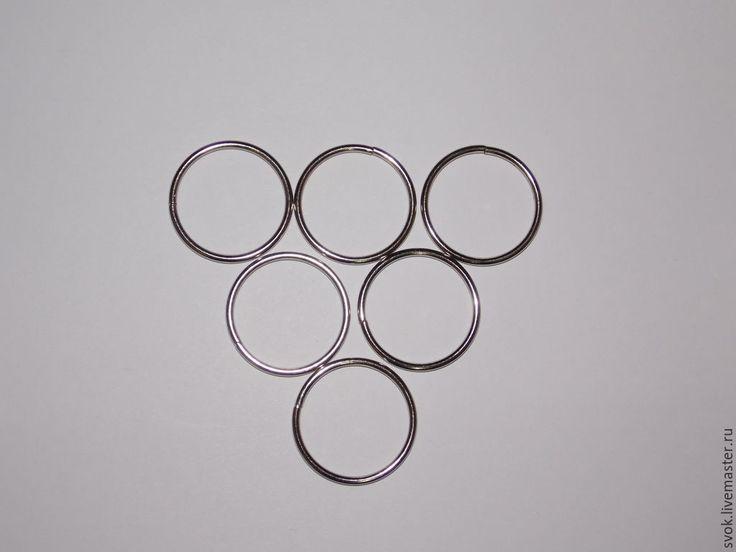 Купить Кольцо металлическое, 25 мм, цвет никель, фурнитура для сумок - серебряный, никель, кольцо