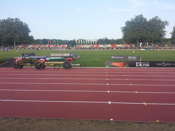 Championnats du monde d'athlétisme handisport. 19-28 juillet 2013. Finale du 5000m homme T54 remporté par Marcel Hug (Suisse)