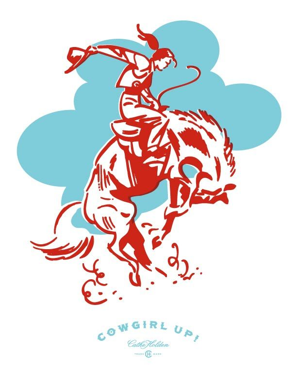 """Cowgirl Up"" free digital download - for anyone wanting to make those cowgirl cookie mixes, this would be a good label."