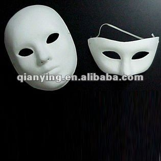 Disposable plain face mask white party mask cheap $0.3~$4
