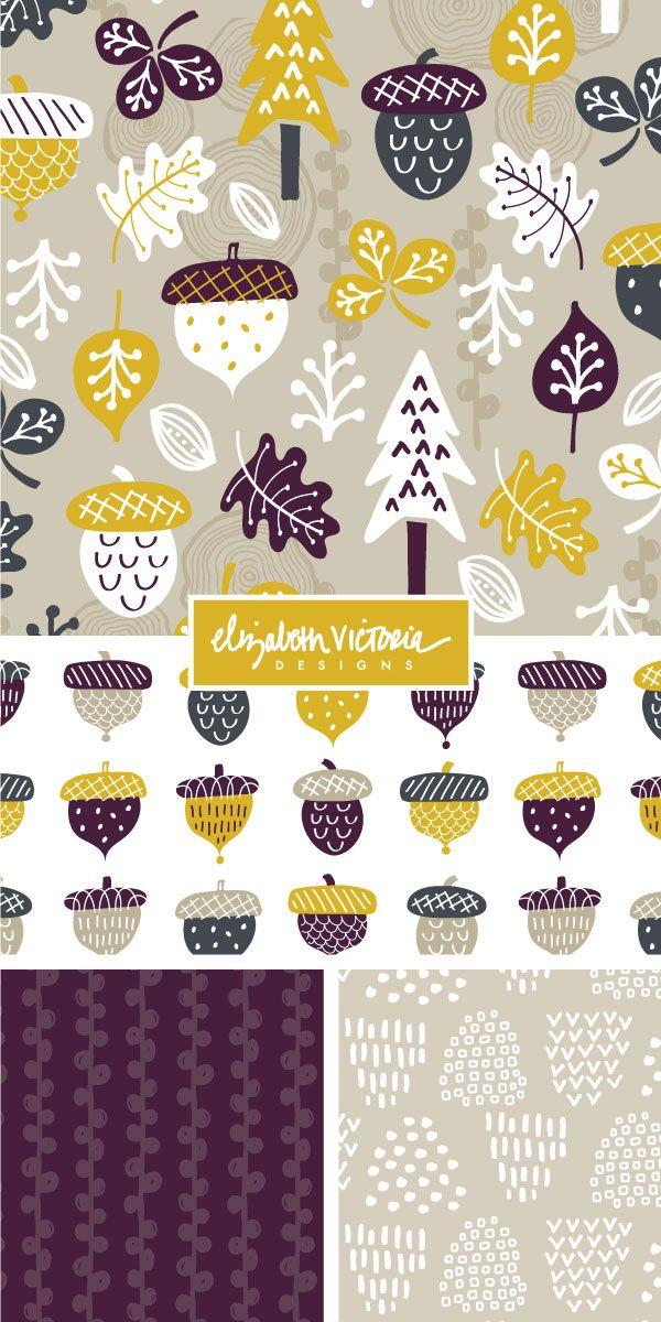 Mark It Up Collection // Surface Pattern Design by Beth Schneider - Elizabeth Victoria Designs