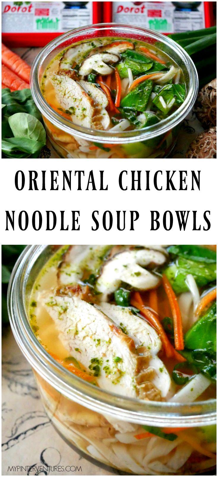 Individual Oriental Chicken Noodle Soup Bowls