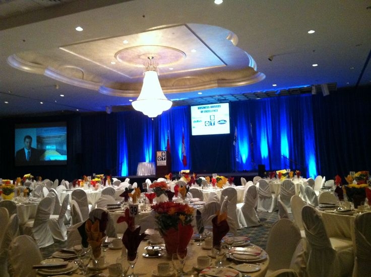 Audio Visual Services At Mississauga Convention Centre. Rear Projection  Screens, Live Eye Camera