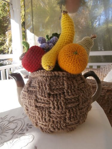 Fruit basket tea cosy