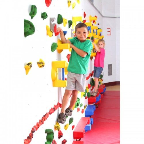 Make rocking climbing more accessible for children of every ability with this Adaptive Climbing Wall! Climbing this wall provides a comprehensive workout while helping children work on their coordination and sensory integration. Rock climbing allows kids to work on endurance and tolerance to anti-gravity in a non-competitive atmosphere. Children love the challenge and the teachers love the cognitive development that it provides.