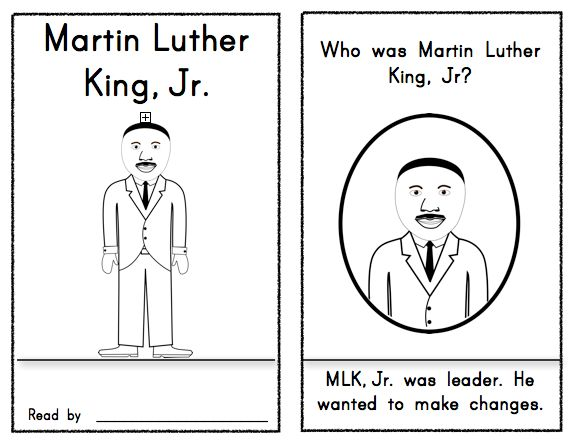 Martin Luther King Jr. Reader First Grade & Kindergarten