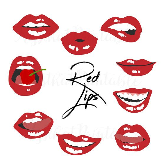 Red Lips Kiss Clip Art Red Hot Lips Clip Art Valentines Day