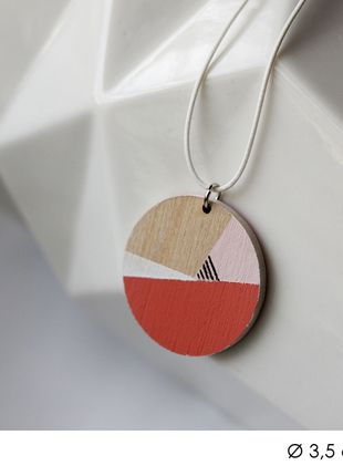 diy handmade necklace pendant pastel minimal minimalism geometric