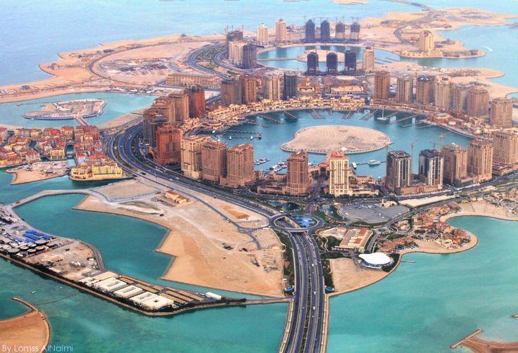 The Pearl-Qatar from above. view on Fb https://www.facebook.com/SinbadsQatarPocketGuide  credit: LornssAlNaimi #qatar