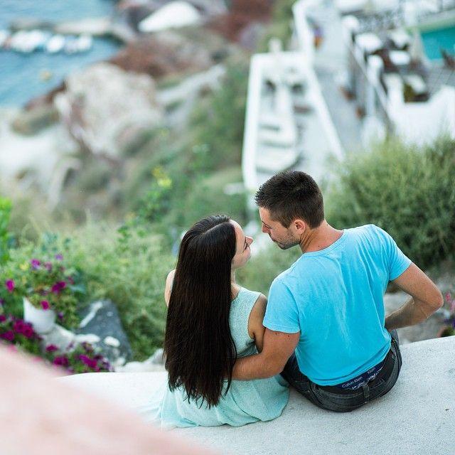 #Lovers in #Oia #Santorini Photo credits: @lakeweddings