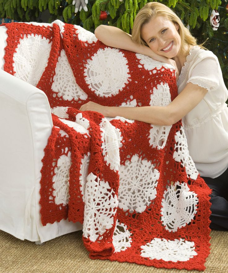 32 Best Crochet Holiday Xmas Blankets Images On Pinterest