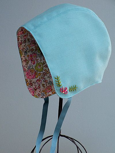 embroidered bonnet