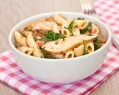 Salade de pâtes au poulet et au basilic #light