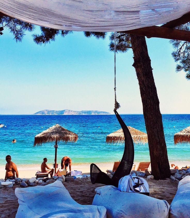La Scala Beach Bar, Thassos, Greece. A port call on my Europa 2 trip last week. #thassos #greece #travel