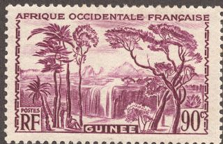 """1939 90c rose violet """"Forest Waterfall"""" Nine stamps are found with the """"Forest waterfall"""" design, all less than $1+."""