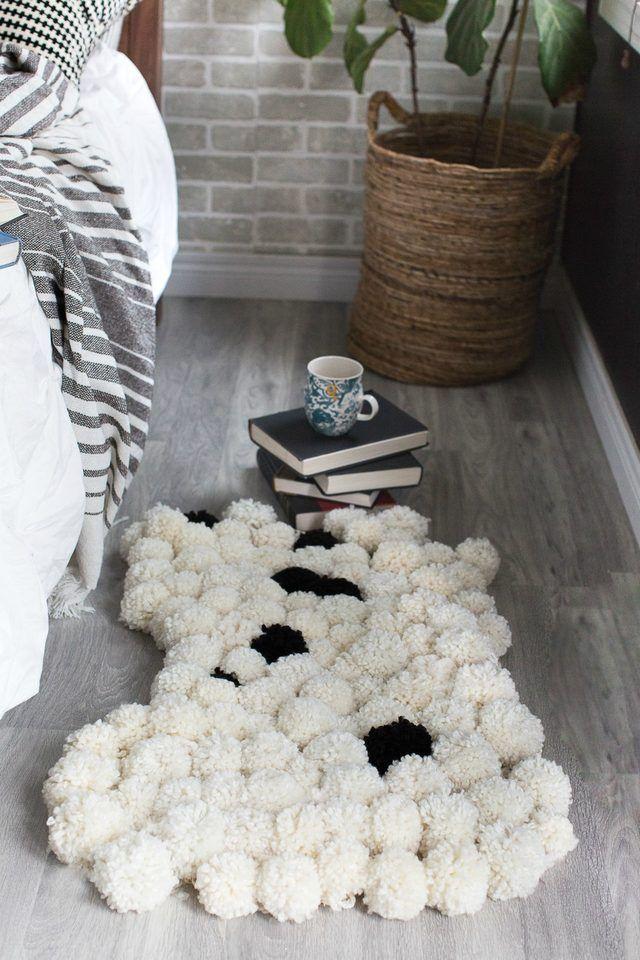 DIY: pompom rug