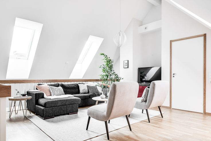Top floor living room at A R Lorentz gata in Gothenburg, Sweden.