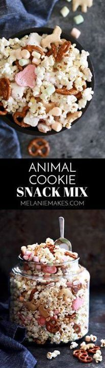 This Animal Cookie S This Animal Cookie Snack Mix is popular...  This Animal Cookie S This Animal Cookie Snack Mix is popular with young and old alike. Freshly popped popcorn is tossed with animal crackers frosted animal cookies miniature fruit marshmallows mini pretzels and peanuts for the perfect sweet and savory snack mix. Recipe : http://ift.tt/1hGiZgA And @ItsNutella  http://ift.tt/2v8iUYW