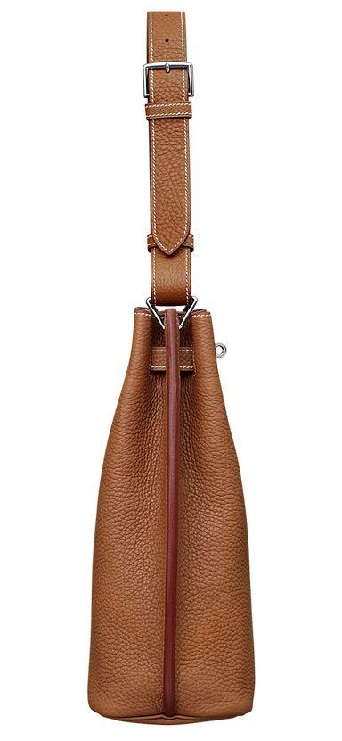 Hermes - So Kelly bag in tan leather. Side view. | Hermes So Kelly ...