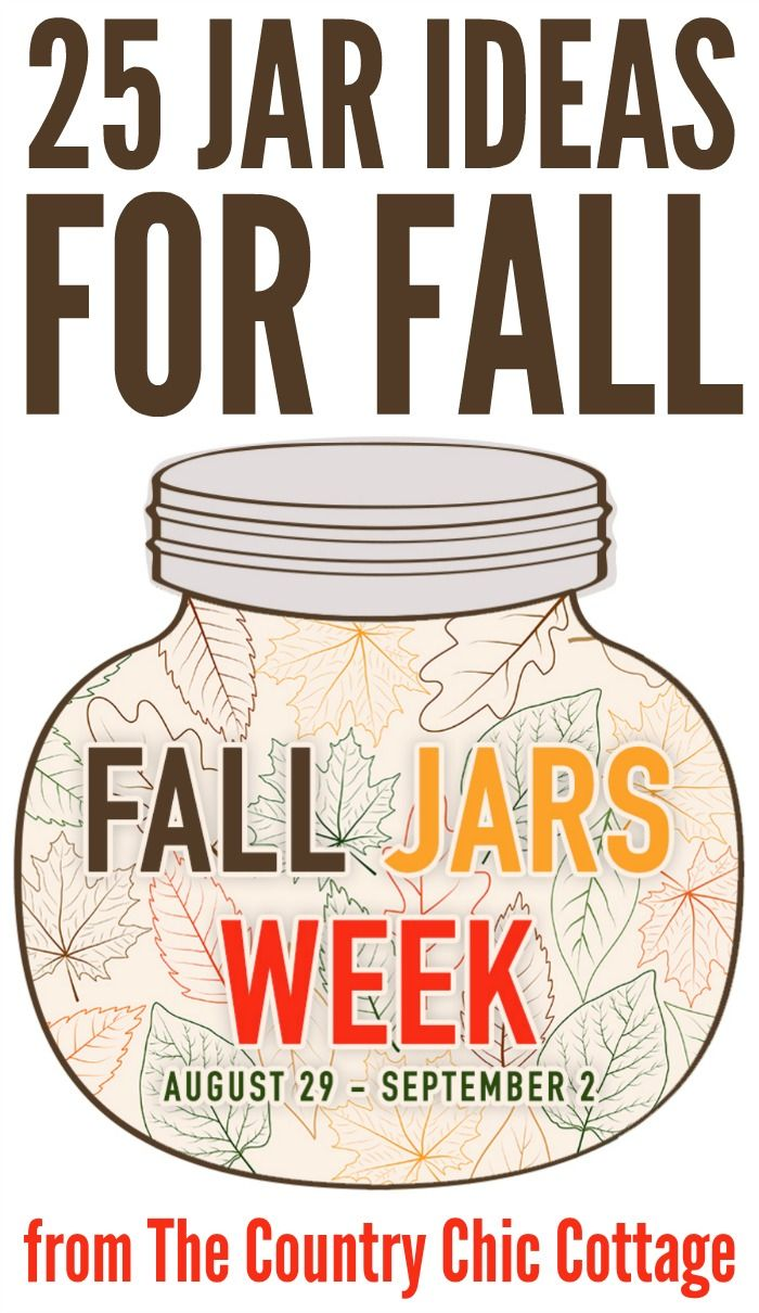 Get 25 jar ideas for fall here! Great ideas using mason jars and more!