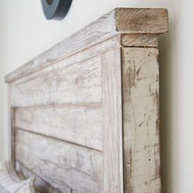 cabecero de madera reciclada...  www.almacen5.es