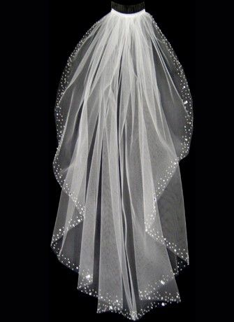 bling wedding veils | Double click on above image to view full picture...we purchased one similar to this and it absolutely made the bride sparkle. It was stunning.                                                                                                                                                     More