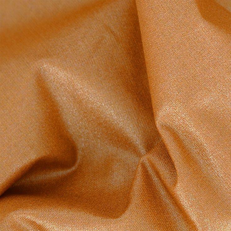 Tissu coton Tout ce qui brille Frou-Frou - Scintillant Uni Cuivré - Perles & Co