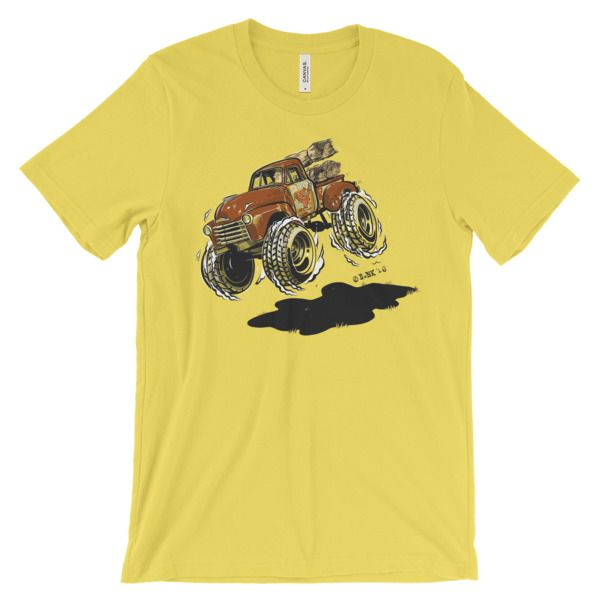 1948 Chevy 3100 Hotrod Cartoon T-Shirt.  This offroading classic truck is a great shirt for any automotive enthusiast.