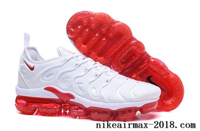 Nike Air Vapormax Plus Mens Running Shoes White Red | Nike