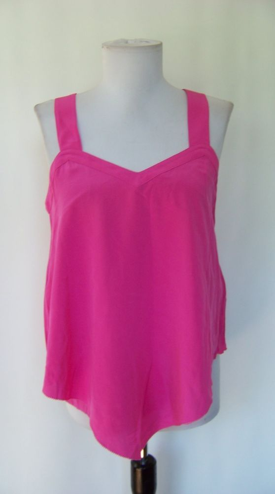 bd6cfc34dd9bd 5187 NWT ACROBAT BRIGHT PINK SILK TANK BLOUSE S  fashion  clothing  shoes   accessories  womensclothing  tops (ebay link)