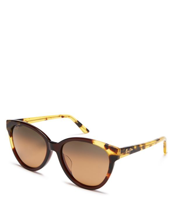 Maui Jim Sunshine Cat Eye Sunglasses, 56mm | Made in USA | 100% UV protection | Logo at temples and lens corner | 56 mm lens width | Web ID:1690508