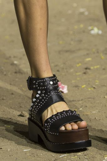 5d5c169724899f ... Shoe envy with these 31philliplim studded leather sandals NYFW. super  cute 18653 91f67 ...