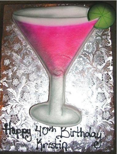 martini shaped cake - Google Search