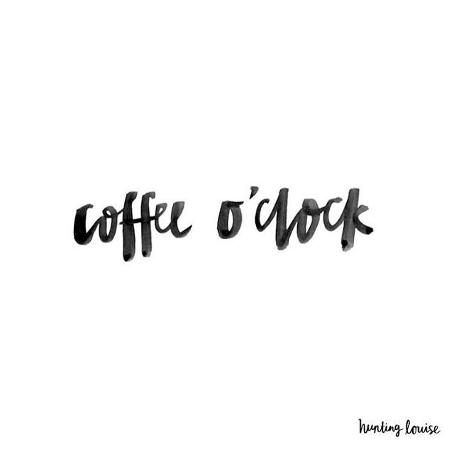 Lettering by the lovely Rachel It's definitely Coffee O'clock here! Ha! What are up to? Coffee time?