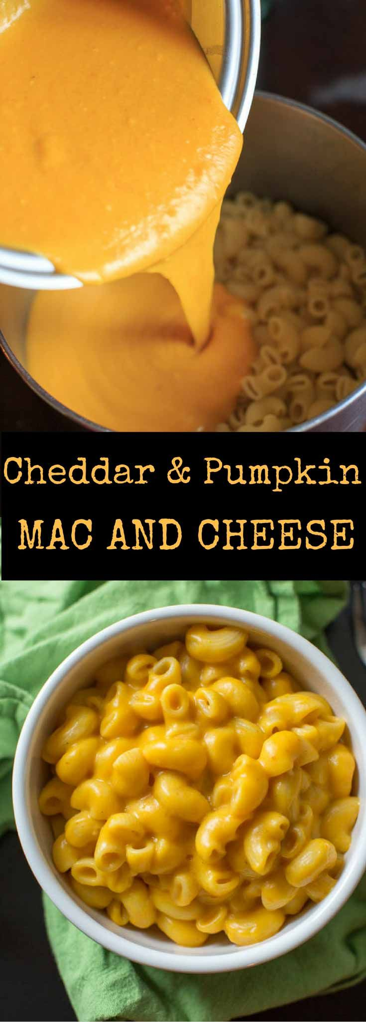 Cheddar Pumpkin Mac and Cheese is an easy and delicious autumn meal. Option to serve as stovetop macaroni in under 30 minutes, or turn into a crunchy casserole.