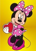 MINNIE (DISNEY)    Medium Size Sand Painting Card (Unpacked) Sizes' is 23,5x33cm.Medium Size Sand Painting Card is divided into two sub-categories,which is licensed unlicensed.    http://www.kirmizisato.com  http://www.facebook.com/Kirmizisato.Kum.Boyama.Balon