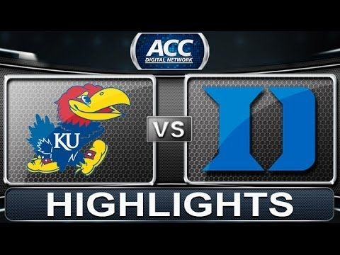 ▶ Kansas vs Duke | 2013 ACC Basketball Highlights - YouTube. Ready for March Madness already.