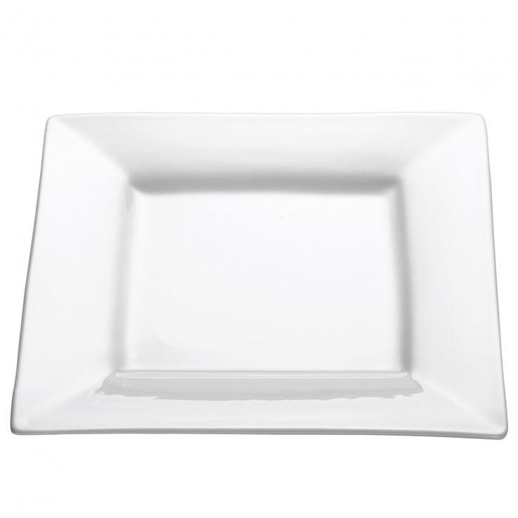 Square Teller eckig, mit Rand, 22 cm, Porzellan, AA2751