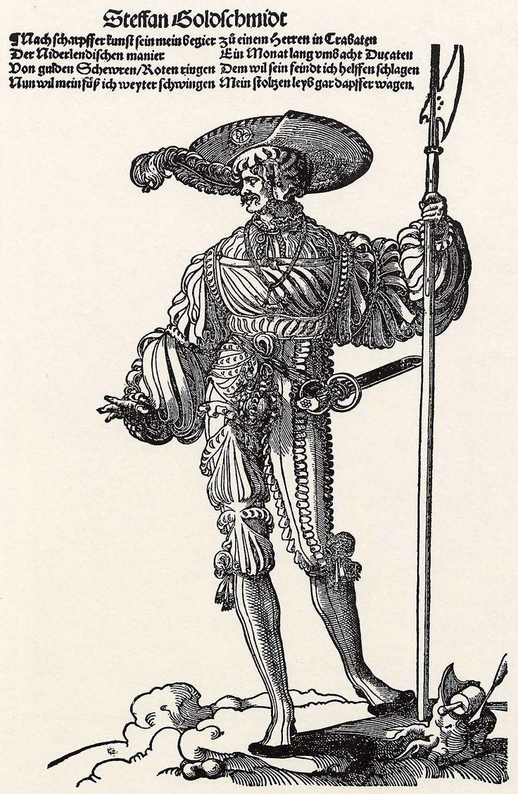 Artist: Flötner, Peter, Title: Der Landsknecht Steffan Goldschmidt, Date: ca. 1535