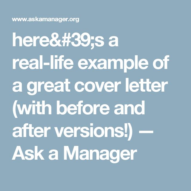 heres a real life example of a great cover letter with before and after - What S A Cover Letter
