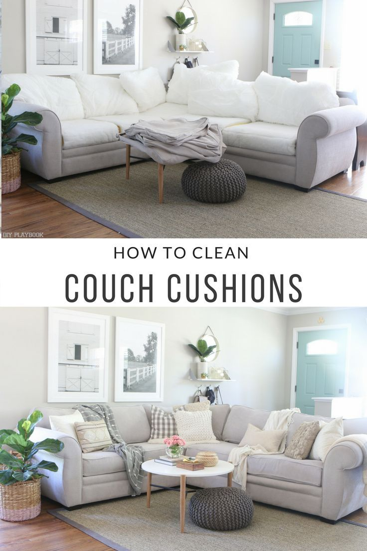 How To Clean Couch Cushions In Your Washing Machine Here S My Step By Tutorial Wash Slipcovered And Get Rid Of Stains Spills