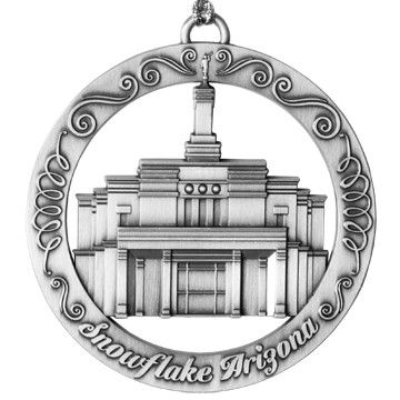 Snowflake Arizona Temple Ornament