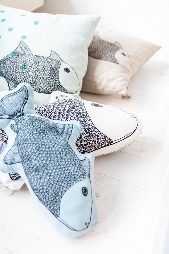 fish pillows from Femke Veltkamp / Windstilte