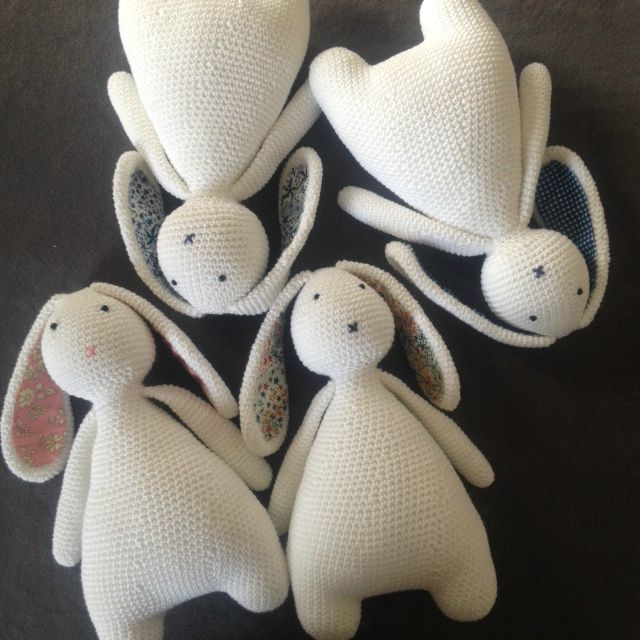 really sweet little easter or baby bunny rabbit pattern to make great gift for new borns Marin le lapin * Pattern