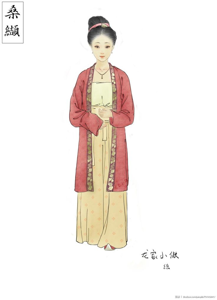"""moonbeam-on-changan: """"Traditional Chinese clothes, hanfu—how to wear hanfu of Song Dynasty style. CR: 桑纈  and 龙家小傲 """""""